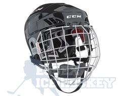CCM Fitlite 60 Ice Hockey Helmet Combo Black - Senior