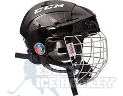 CCM Fitlite 40 Ice Hockey Helmet Combo Black - Senior