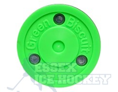 Green Biscuit Ice Hockey Training Puck