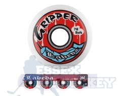 Labeda Gripper Inline Hockey Wheels Extra Soft 4 Pack
