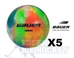 Bauer Multi Coloured Hockey Five Balls