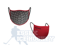Bauer Reversible Fabric Face Mask Red/Bauer logo