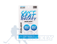 Bauer can't beat hockey sticker pack
