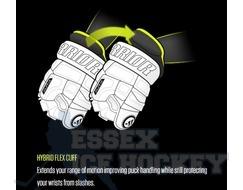 Warrior Alpha DX4 Senior Black & Gold Ice Hockey Gloves
