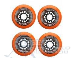 Labeda Gripper Asphalt Outdoor Roller Hockey Wheels 4 Pack