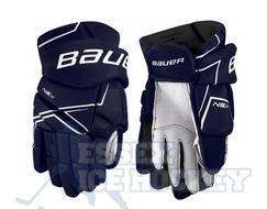 Bauer NSX Junior Hockey Gloves Navy