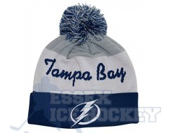 NHL Script Cuffed Pom Hat Tampa Bay Lightning
