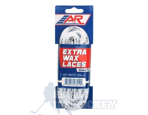 A&R Extra Wax Hockey Laces White