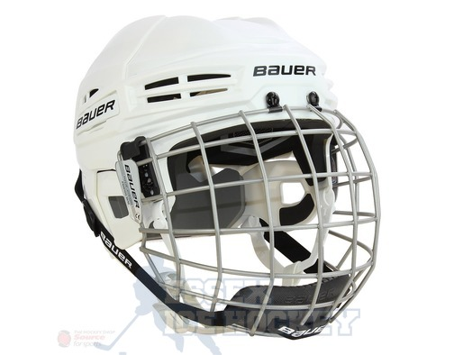 Bauer IMS 5.0 Ice Hockey Helmet Combo White