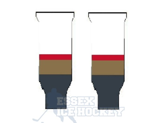 Hockey Socks Knitted Vegas Goldern Knights White