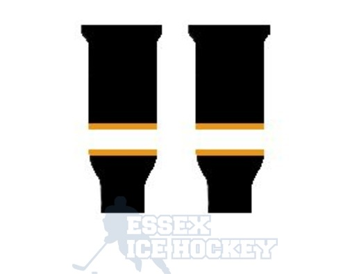 Hockey Socks Knitted Junior Boston Black