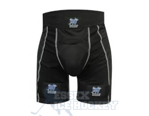 Blue Sports Senior Compression Jock Shorts