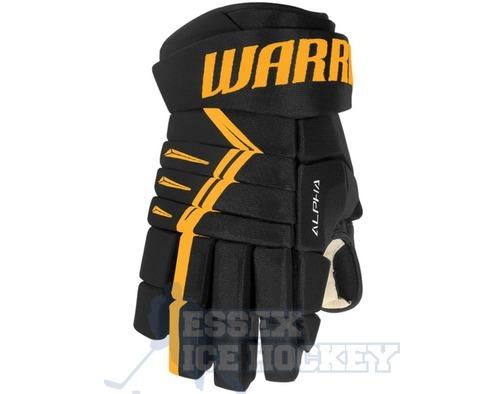 Warrior Alpha DX4 Junior Black & Gold Ice Hockey Gloves