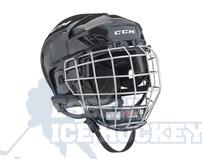 CCM Fitlite 40 Ice Hockey Helmet Combo Black - Senior
