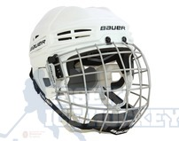 Bauer IMS 5.0 Ice Hockey Helmet Combo White