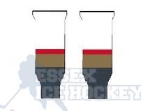 Hockey Socks Knitted Vegas Goldern Knights White