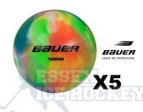 Bauer Multi Coloured Hockey Five Balls