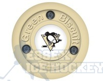 Green Biscuit NHL Logo Hockey Training Puck