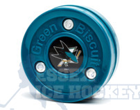 Green Biscuit NHL Logo Hockey Training Puck